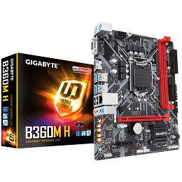 Gigabyte B360M H (S1151, 2xDDR4, HDMI, VGA, 1xPCIex16, 1xPCIex1, Realtek 8118, 4xSATA III, M.2, USB 3.1, USB 2.0) mATX Retail