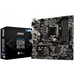 MSI Main Board Desktop B360 (S1151, DDR4, USB3.1, USB2.0, SATA III,M.2, HDMI, DVI-D, VGA - Requires Processor Graphics, 8-Channel(7.1) HD Audio with Audio Boost, Realtek 8111H Gigabit LAN) mATX Retail