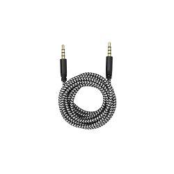 BIT FORCE presvučeni kabel 3,5MM-3,5MM 1,5m crni
