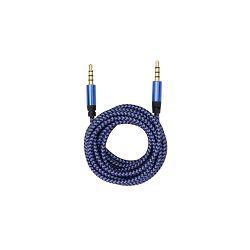 BIT FORCE presvučeni kabel 3,5MM-3,5MM 1,5m plavi