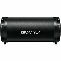 Canyon Bluetooth Speaker, BT V4.2, Jieli AC6905A, TF card support, 3.5mm AUX, micro-USB port, 1500mAh polymer battery, Black, cable length 0.6m, 179.4*79.7*82mm, 0.461kg