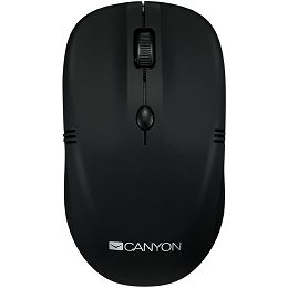 CANYON 2.4Ghz wireless mice, 4 buttons, DPI 800/1200/1600, rubber coating black