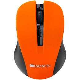 CANYON 2.4GHz wireless optical mouse with 4 buttons, DPI 800/1200/1600, Orange, 103.5*69.5*35mm, 0.06kg