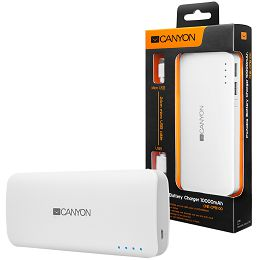 CANYON Battery charger for portable device 10000 mAh (White)