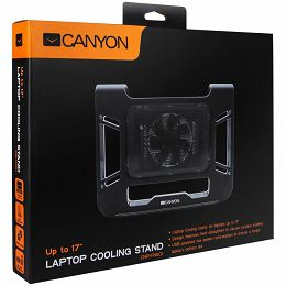 Canyon Laptop Cooling Stand for laptop up to 17, black color