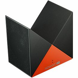 Transformer Bluetooth Speaker, BT V4.1, BEKEN BK3254, 360 degree rotation, Built in microphone, TF card support, 3.5mm AUX, micro-USB port, 800mAh polymer battery, grey-orange.