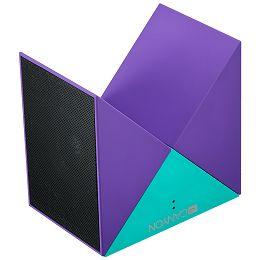 Transformer Bluetooth Speaker, BT V4.1, BEKEN BK3254, 360 degree rotation, Built in microphone, TF card support, 3.5mm AUX, micro-USB port, 800mAh polymer battery, blue-purple