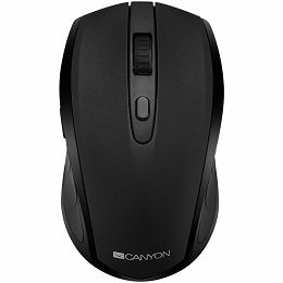 2 in 1 Wireless mouse, Optical 800/1200/1600 DPI, 6 button, 2 mode(BT/ 2.4GHz), black