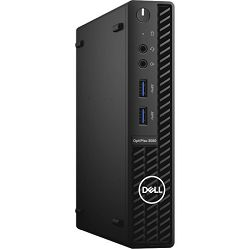 DELL OptiPlex 3080 Micro BTX w/65W, Intel Core  i5-10500T (2.30 GHz to 3.80 GHz, 12 MB, 35W), 8GB (1X8GB) DDR4 non-ECC, M.2 256GB PCIe NVMe, TPM, Speaker, WiFi, BT, KB+M, Win10Pro, 3Y