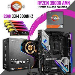 FIT Upgrade KIT (AMD Ryzen 9 3900X, 32GB DDR4 3600Mhz, X570Taichi)