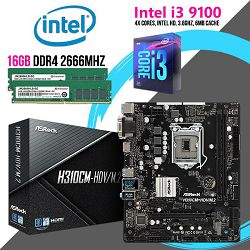 FIT Upgrade KIT (Intel i3 9100, 16GB DDR4 2666 MHZ, H310M s1151)