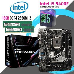 FIT Upgrade KIT (Intel i5 9400F,B365M,16GB DDR4 2666)