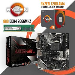 FIT Upgrade KIT (Ryzen 3 1200 + A320M + 8GB DDR4)