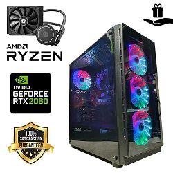 Futura IT STARDUST Elite PC  (Ryzen5 3600, 16GB DDR4, 500GB NVMe, 1TB HDD, RTX 2060 6GB, 550W, Rainbow Midi ATX) + Poklon