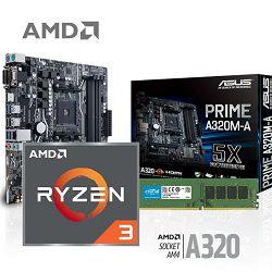 FuturaIT AMD Upgrade KiT (AMD R3 1200, A320M, 16GB DDR4 3200MHz)