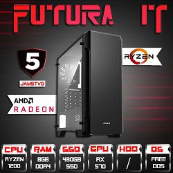 FuturaIT Cheapy (Ryzen 3 1200, 8GB DDR4, 480GB SSD, RX 570 4GB, 500W, 5Y)