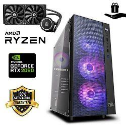FuturaIT INFORCER Elite PC  (AMD Ryzen 5 3600, B450, 16GB RAM, M.2 SSD 1TB, RTX 2060, 650W, RGB Case) + Poklon