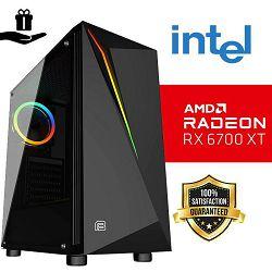 FuturaIT Elite Gamer PC (Intel i5 10400F, 16GB DDR4, SSD 480GB, RX 6700XT, 700W, Midi ATX) Poklon