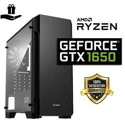FuturaIT Entry Gamer PC (AMD Ryzen 1200, 16GB RAM, SSD 480GB, GTX 1650, 500W) Poklon