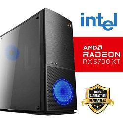 FuturaIT Lotus Gamer PC (Intel i5 9400F, 16GB DDR4, SSD+HDD, RX 6700XT, 650W 80+ GOLD, Midi ATX Blue)