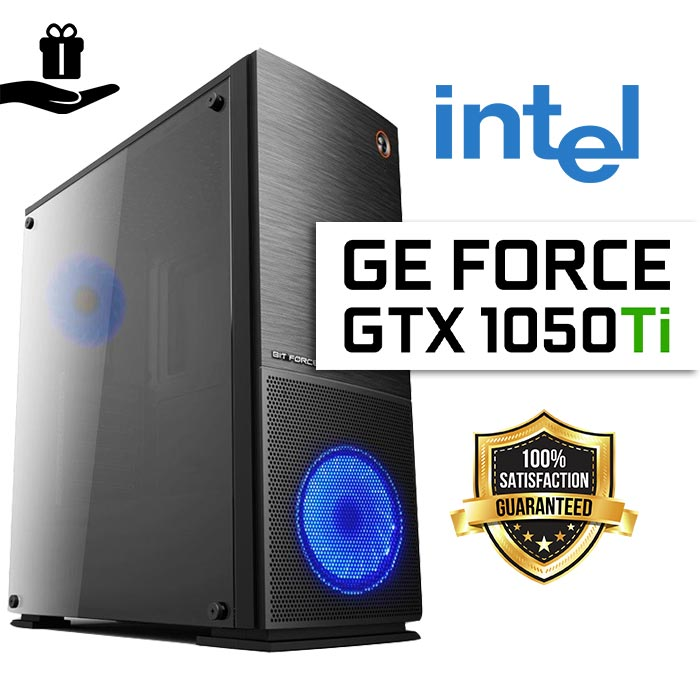FuturaIT GTX Gamer PC Intel i5 10400F, 16GB RAM, SSD 480GB, GTX 1050Ti, 500W 80+, Midi Case)