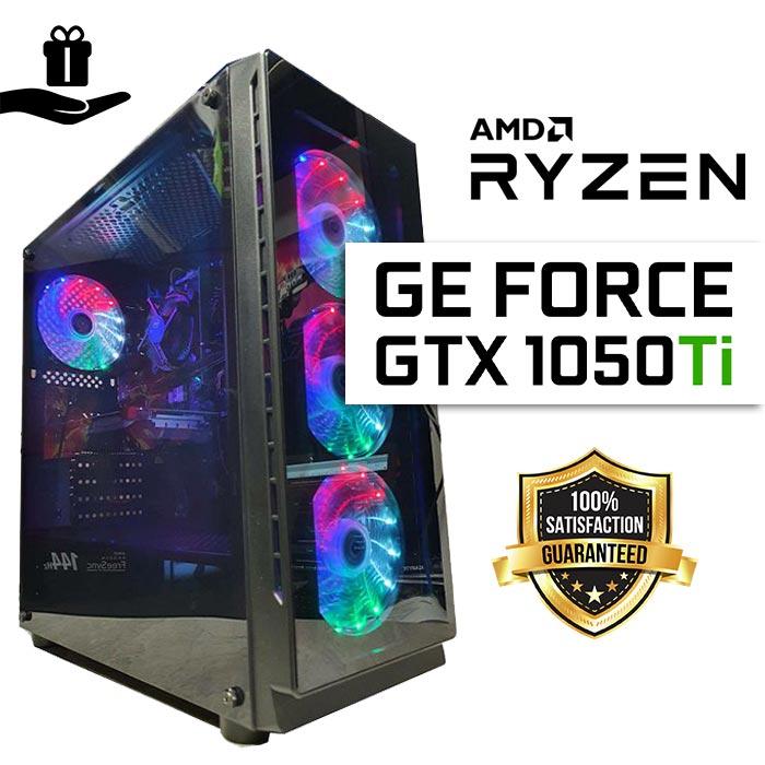 FuturaIT GTX Gamer PC (Ryzen 3 1200, 16GB RAM, SSD 480GB, GTX1050Ti 4GB, 500W, Midi Case) Poklon