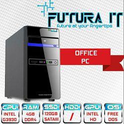 Računalo FuturaIT Office (Intel DualCore, 4GB DDR4, 120GB SSD, VGA/DVI) FreeDOS