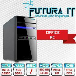 Računalo FuturaIT Office (Intel DualCore, 4GB DDR4, 500GB, VGA/DVI) FreeDOS