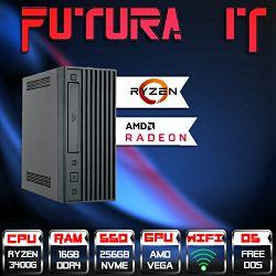FuturaIT PixC SFX (Ryzen 5 3400G, 16GB DDR3600, 256GB NVMe, RXVega11, WiFi)