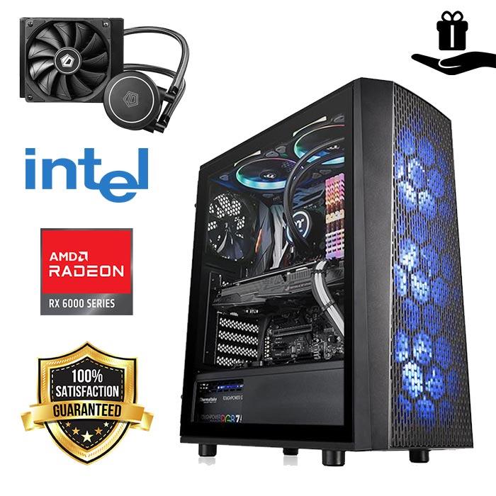 FuturaIT SENATOR Gamer PC (Intel i5 10400F, 16GB DDR4, M.2 1TB SSD, AMD RX 6600 8GB, 550W 80+ Bronze, Midi Atx Blue) Poklon