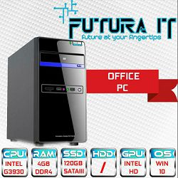 Računalo FuturaIT Surf&Office (Intel DualCore 2.9GHz, 4GB DDR4, 120GB SSD, DVDRW) Win10