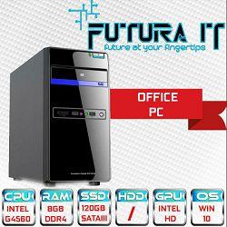 Računalo FuturaIT Surf&Office (Intel Pentium 3.5GHz, 8GB DDR4, 120GB SSD, DVDRW) Win10