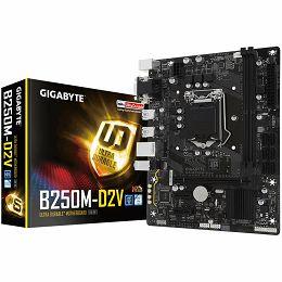 GIGABYTE Main Board Desktop INTEL B250 (Socket LGA1151,2xDDR4,DVI-D,D-Sub,1xPCIEX16/2xPCIEX1,USB3.0/USB2.0, 6xSATA III/LAN) mATX retail