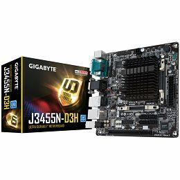 GIGABYTE Main Board Desktop Built-in Intel Celeron J3455, quad-core processor, Dual channel DDR3L SO-DIMM, 2xSATA