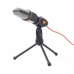 Desktop microphone with a tripod, black
