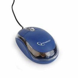 Gembird Optical mouse, USB, blue transparent