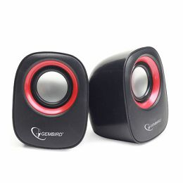 Gembird Stereo speaker, black red