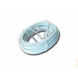 Gembird Telephone cord 6P4C, 3 meters, white