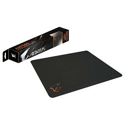 GIGABYTE GAMING AMP500 Mousepad (Optimized surface for precise mouse tracking, Hybrid Silicon Base Design, Heat molding edge for ultra comfort, Spill-resistant and washable) Retail