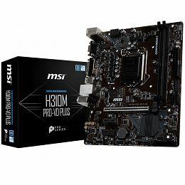 MSI Main Board Desktop H310 (S1151, 2x DDR4, USB3.1, USB2.0, SATA III, DVI-D, VGA - Requires Processor Graphics, 8-Channel(7.1) HD Audio with Audio Boost,  Realtek 8111H Gigabit LAN) mATX Retail