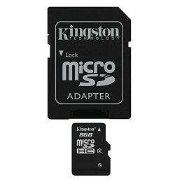 Kingston microSDHC, Class4, 8GB