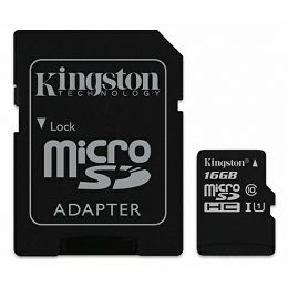 Kingston microSDHC, Canvas, Class10, 16GB