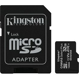 Kingston microSDXC, Select plus, Class10, 32GB SDCS2/32GB