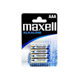 Maxell alkalne baterije LR-3/AAA, 4 komada