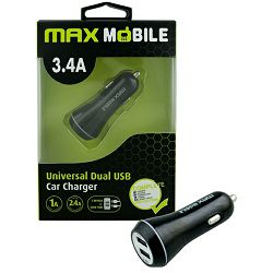 MAXMOBILE AUTO ADAPTER USB DUO SC-127 3.4A crni
