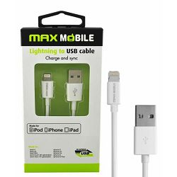 MAXMOBILE DATA KABEL I-PHONE 5/6/7/8/X.. MFI Apple 1m