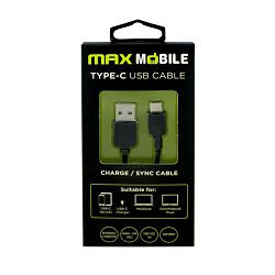MAXMOBILE DATA KABEL USB 2.0 TYPE C 1m crni