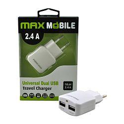 MAXMOBILE KUĆNI ADAPTER DUO USB TR-067 2.4A bijeli