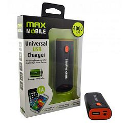 MAXMOBILE POWER BANK CLIP 4000mAh crno - narančasti
