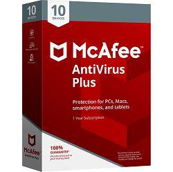 McAfee AntiVirus Plus – 1 godina Za 1 uređaj, elektronički certifikat